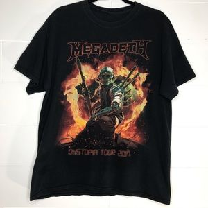 Other - Megadeath Concert Band Tour Tee 2017 Music